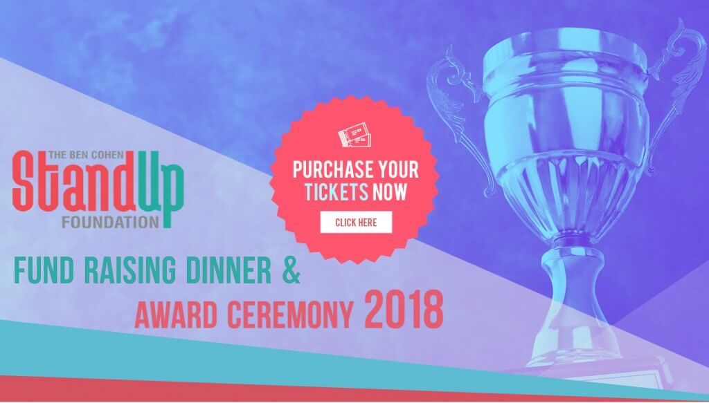 Stand Up Foundation Fund Raiser Dinner and Award Ceremony 2018, Purchase Tickets Now, Click here